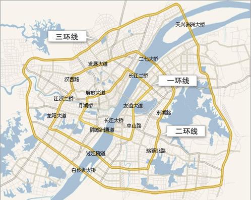 武汉市道路交通规划图